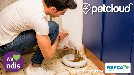 Home visits to feed and water pets, ndis pet care, petcloud