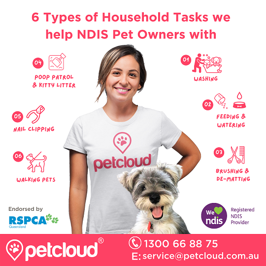 Household Tasks, NDIS Pet Care, Disability Supports, PetCloud