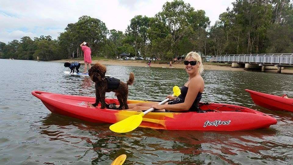 Mocha and Dior from Poodles and Oodles Gold Coast Group who do tons of fun pet exercise