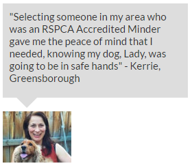 RSPCA Accredited Minder