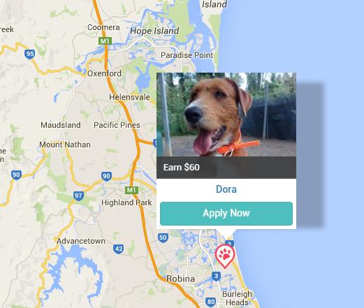 Example of Pet Sitter Jobs on PetCloud