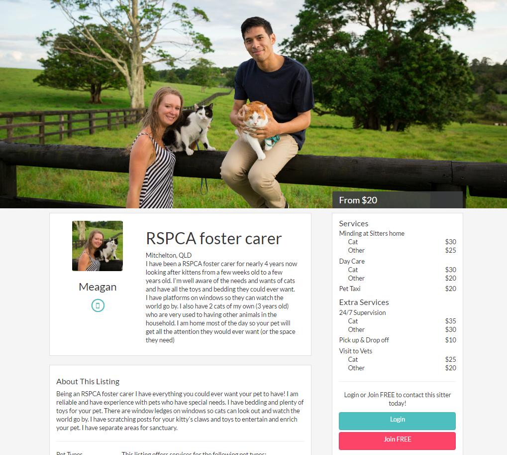 RSPCA foster carer