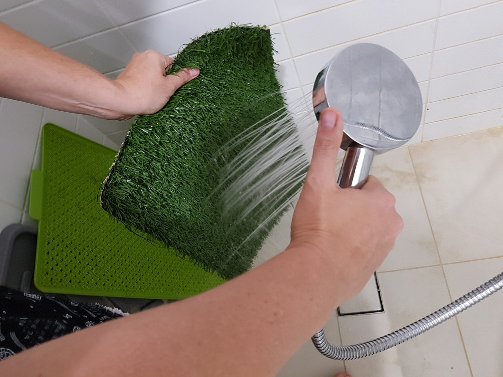 Apartment Living Cleaning Synthetic Potty Grass