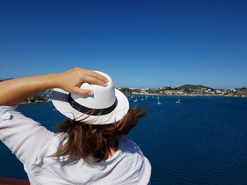 Sailing into Noumea