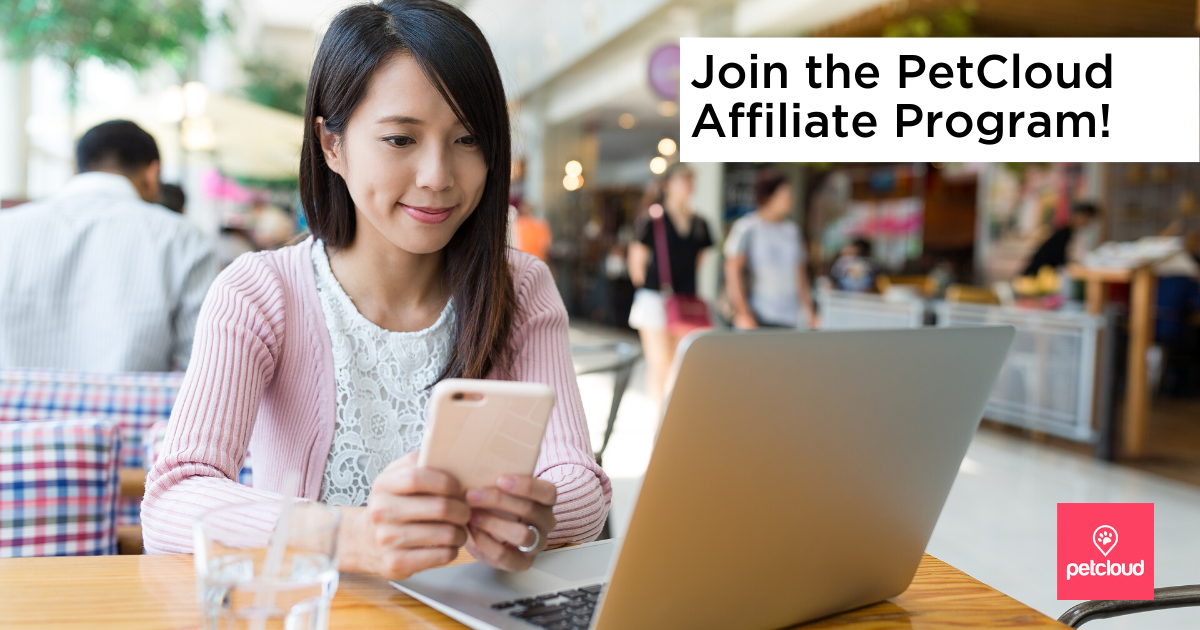 Digital Marketing Affiliate Female on computer in a public location