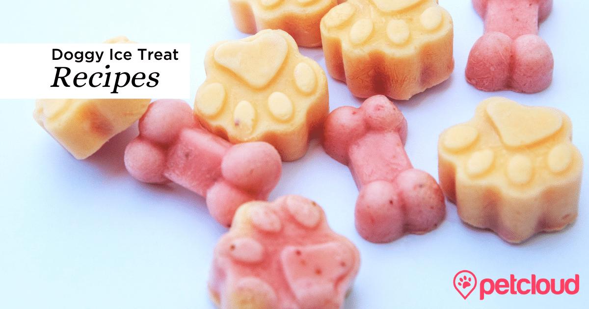 Dog Ice treats, frozen dog treats, yoghurt dog treats