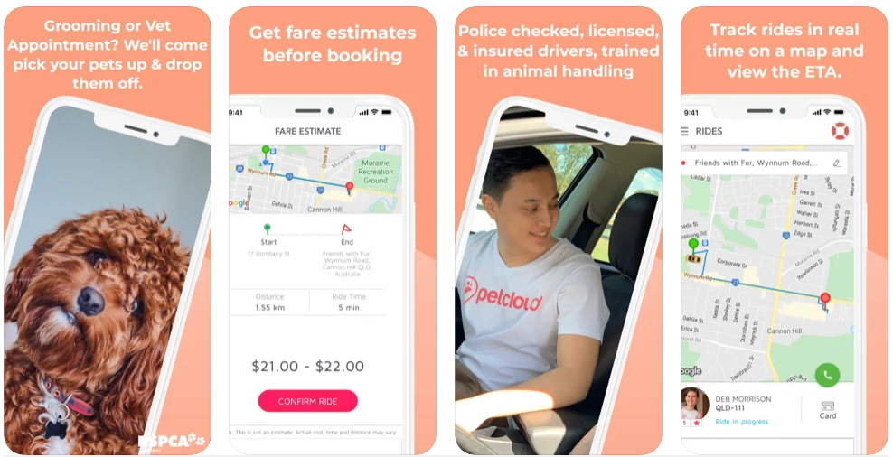 PetCloud Pet Taxi App Grooming App Vet Clinic Transport Pet Transport